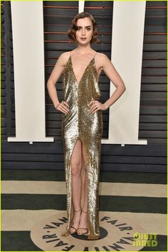 Nina Dobrev & Lily Collins Go Glam for Vanity Fair's Oscars Bash: Photo #3593679. Nina Dobrev hits the carpet in style while arriving at the 2016 Vanity Fair Oscar Party held at the Wallis Annenberg Center for the Performing Arts on Sunday (February…