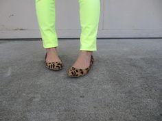 leopard flats     http://ko-efficient.blogspot.com/2013/01/neon-neutral.html