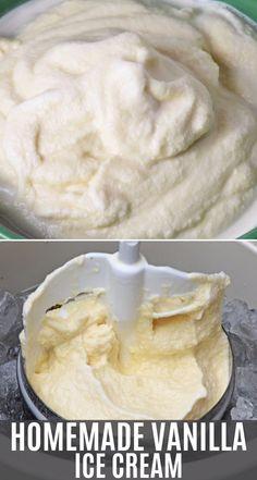 How to make homemade vanilla ice cream the old fashioned way using an electric ice cream maker. Custard Ice Cream Recipe, Vanilla Ice Cream, Raw Milk Ice Cream Recipe, Vanilla Sweet Cream Recipe, Frozen Custard Recipes, Baileys Irish Cream, Vanilla Desserts, Frozen Desserts, Vanilla Brownies