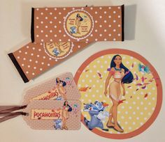 Pocahontas Party Pack 8  Gift Tags 8  Candy by MichelleAndCompany, $18.00