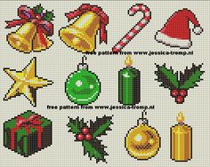 Christmas Cross Stitch Patterns xmas collection 1.png (800×639)