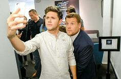 Nialler backstage of the Late Late Show with James Corden