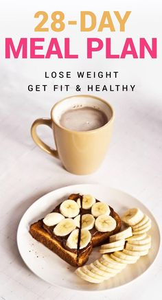 28-Day Fat Loss Meal Plan To Get Fit For Life Quick Healthy Breakfast, Healthy Snacks, Breakfast Recipes, Breakfast Ideas, Healthy Drinks, Healthy Brunch, Quick Snacks, Brunch Ideas, Brunch Recipes