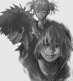 Boku no Hero Academia    Dabi, Himiko Toga, Shigaraki Tomura.