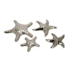 IMAX Cortland Star Fish in Silver (Set of 4), $23.71