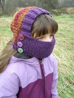 Perfect scarf/hat combo for kids! Keeps the cold air out of the lungs! Also provides safety on the playground with no dangling ties or scarf ends to get tangled and caught!  #child #asthma #scarf