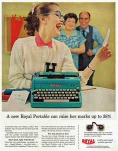 Royal portable typewriter, 1957