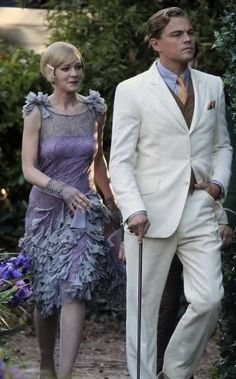 Leonardo di Caprio and Carey Mulligan as Gatsby and Daisy in Lurhmann's The Great Gatsby (2013)
