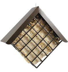 Diamond Suet Feeder - Copper Hammertone.   #suetfeeder #birdfeeder #suetcage #suetbasket