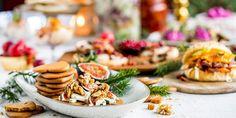 6 enkle juleretter til julebordet Camembert Cheese, Tapas, Table Decorations, Christmas, Food, Xmas, Essen, Navidad, Meals