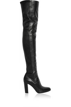 Gianvito Rossi|Leather thigh boots|NET-A-PORTER.COM