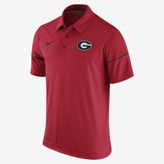 REPRESENT YOUR TEAM The Nike College Team Issue (Georgia) Men's Polo is made with Dri-FIT fabric and mesh sleeves for lasting comfort. Benefits Dri-FIT fabric helps keep you dry and comfortable Mesh on lower sleeves for cooling comfort Product Details Fold-over collar and button placket Fabric: Dri-FIT 100% polyester Machine wash Imported