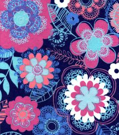 Snuggle Flannel Fabric-Doodle Floral