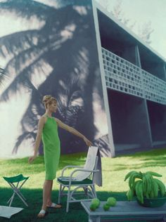 Palm Green Retro Fashion...Soo Love the vintage Palm Springs retro style!