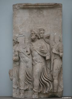King Teuthras hurries to the sea, where Auge is stranded Pergamon Museum The Telephos frieze,Greece