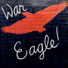 Auburn War Eagle painting!