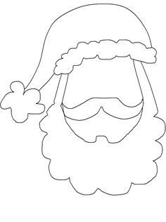 Santa Face template | PARTY PLANNER - PHOTO BOOTH PROPS