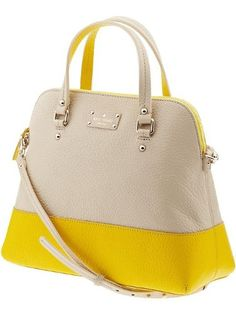 8cd025668ae7 Kate Spade Grove Court Large Maise Bag in Yellow (seedpearl/donovan yellow)