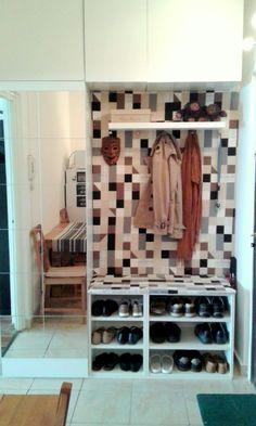 Hallway storage from IKEA Metod kitchen cabinets | IKEA Hackers