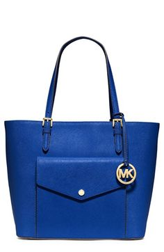MICHAEL Michael Kors 'Jet Set - Large' Saffiano Leather Snap Pocket Tote (Nordstrom Exclusive) available at #Nordstrom