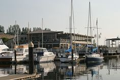 The boats in front of Edmonds