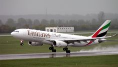 An Emirates Airbus A330-200 (A6-EAL) at Düsseldorf Airport