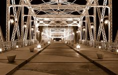 Walking Bridge in Downtown Nashville  The best photographic view of the city!  # onlyinnashville