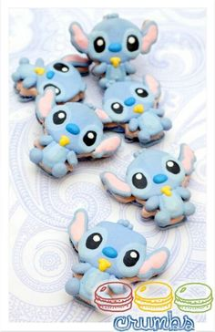 Baby Stitch macarons by Crumbs