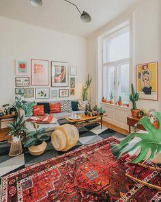 Best Modern Small Living Room Decor Ideas ~ Home Design Ideas Living Room Decor Cozy, Boho Living Room, Bohemian Living, Modern Bohemian, Bohemian Homes, Ikea Living Room, Dining Room, Home Interior, Interior Design