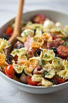 Zesty Italian Pasta Salad | lifemadesimplebakes.com