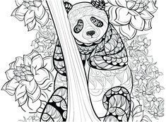 FREE panda coloring pages for adults | FREE Printable Coloring Pages ...
