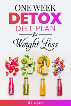 Week Detox Diet Plan for Weight Loss- [Only 7 Days & Effective] Check out the one week detox plan for weight loss and get rid of that stubborn belly for good.Check out the one week detox plan for weight loss and get rid of that stubborn belly for good. One Week Detox Diet, Week Detox Plan, Detox Diet Plan, One Week Cleanse, Best Way To Detox, Best Detox, Full Body Detox, Detox Your Body, Weight Loss Detox