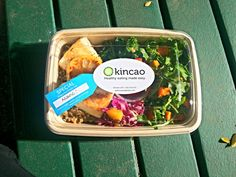 Kincao, sustainable, organic, healthy lunch delivery service in Campbell and Los Gatos, CA. Salad Packaging, Food Packaging Design, Healthy Diet Recipes, Gourmet Recipes, Healthy Eating, Breakfast Healthy, Dinner Healthy, Ideas Desayunos, Food Ideas