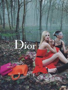 Dior Fall/Wint 2013 'Secret Garden 2′ - Daria Strokous & Diana Moldovan by Inez & Vinoodh