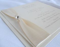 Luxury Handmade Wedding Invitations/Stationery - VIENNA (IVORY) | eBay