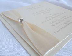 Luxury Handmade Wedding Invitations/Stationery - VIENNA (IVORY) | eBay