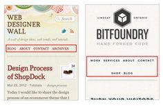 Responsive web design: full website to mobile navigation drop-down menu ... *drool*