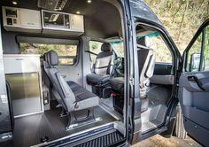 Awesome Ideas For Camper Van Conversions 11 Vw Lt Camper, Mercedes Sprinter Camper, Build A Camper Van, Camper Life, Sprinter Motorhome, Van Conversion For Family, Van Conversion Interior, Camper Van Conversion Diy, Van Interior