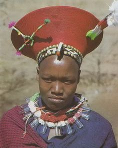 African headdresses, coiffeurs, crowns, hats and turbans.