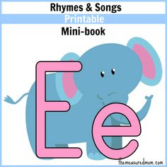My 2-year-old learned his letters by listening to these FREE printable books of rhymes and songs. We love them!