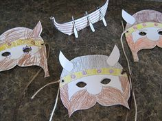 Almost Unschoolers: Viking Craft Fun