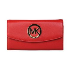 #style Make Yourself A Perfect One With Cheap And Fashionable Michael Kors Logo Large Red Wallets Here.