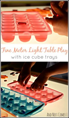 Fine motor light table play using items found in the dollar store from And Next Comes L