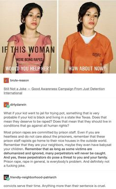 Still Not a Joke – Good Awareness Campaign from Just Detention International // prison industrial complex, inmate rape
