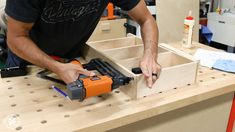 How to Build DIY Wall Cabinets with 5 storage options. Customize these shop cabinets to organize your garage or workshop. Video tutorial and plans! Diy Garage Storage Cabinets, Garage Tool Storage, Garage Workbench, Wall Cabinets, Garage Organization, Paint Storage, Shop Storage, Storage Ideas, Woodworking Table Saw