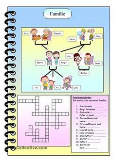 Kreuzworträtsel mit Lösung. - DaF Arbeitsblätter