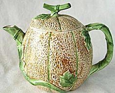 Vintage Cantaloupe and Vine Teapot