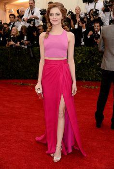 Gala du MET 2014 : Emma Stone en rose
