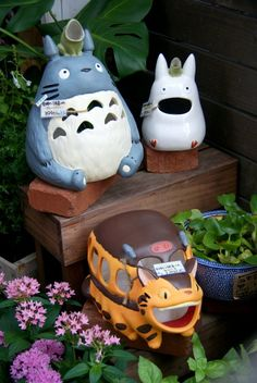 """My Neighbour Totoro"" garden decorations outside a Studio Ghibli shop in Kamakura, Japan"