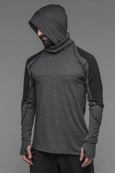 Ninja long sleeve hoodie men's grey cosplay clothing image 5